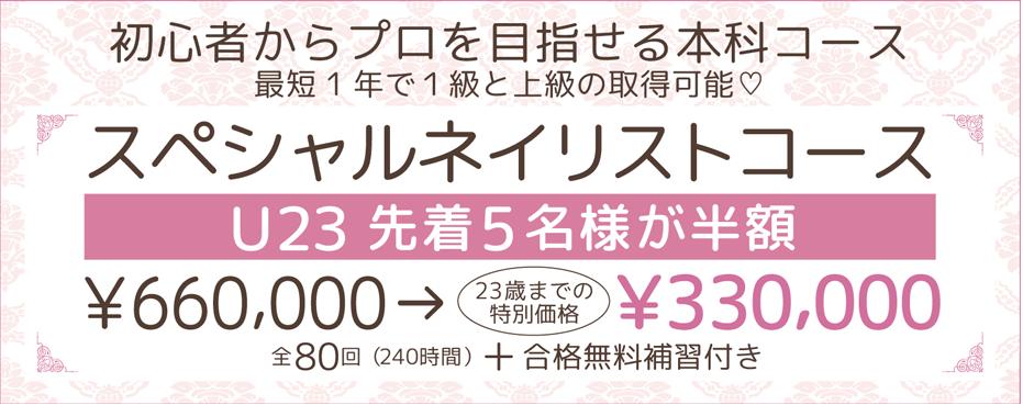 ネイルスクール ティアラリュクス【JNA認定校】本八幡校・成田校・茨城校 U23  先着5名様 スペシャルネイリストコースが半額!